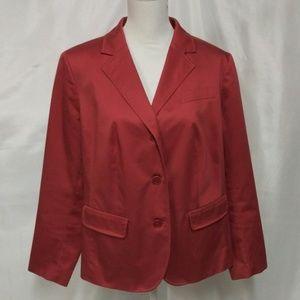 Talbots Woman Pink Mauve Button Front Blazer